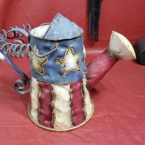 Americana Watering Can Votive Candle Holder